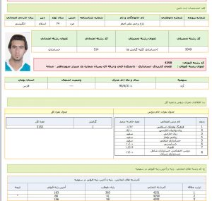 کارنامه های قبولی در آموزشکده فنی پسران باهنر شیراز