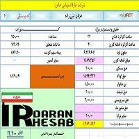 دانلود فایل اکسل محاسبه حقوق و دستمزد ۹۵