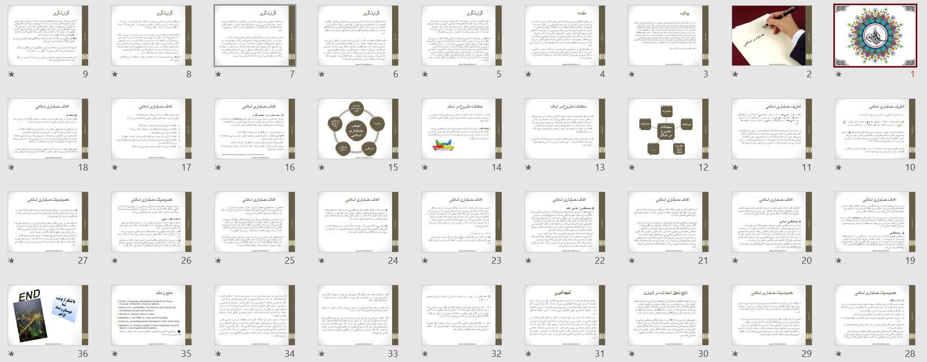 تصویر اسلاید های پاورپوینت حسابداری اسلامی ( پاورپوینت 2)
