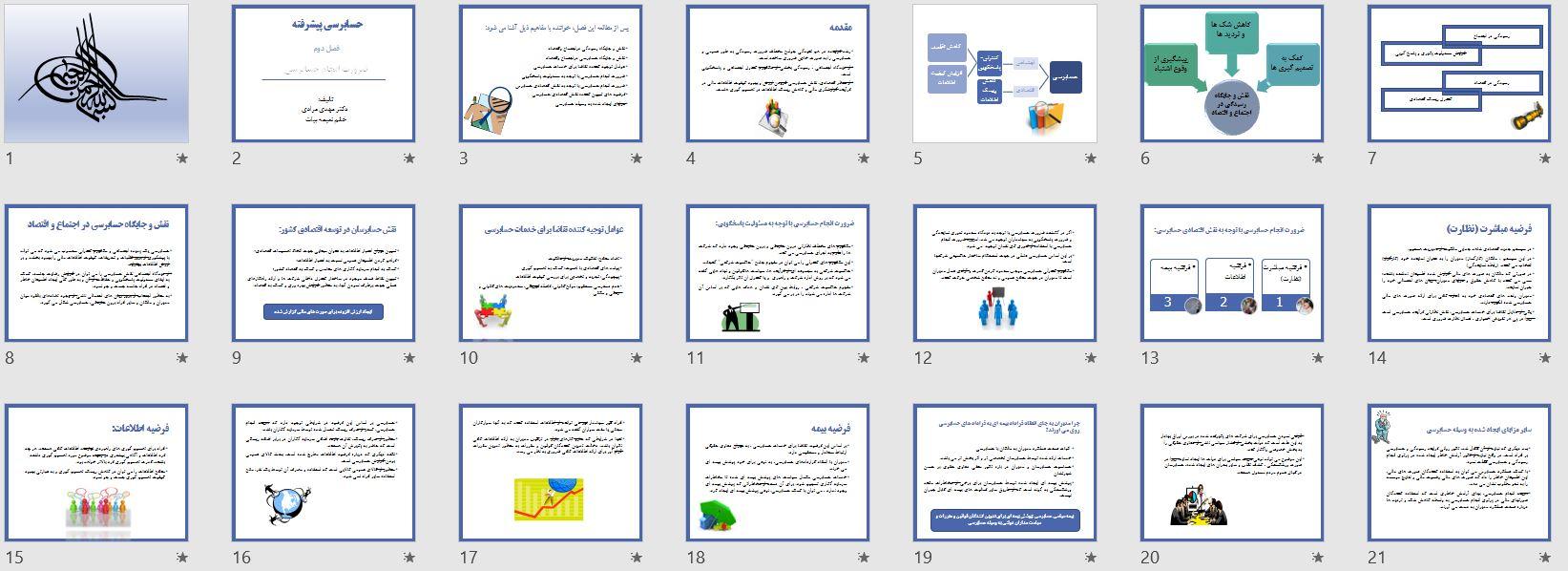 تصویر صفحات پاورپوینت ضرورت انجام حسابرسی